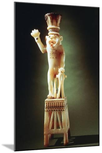 Lion Figurine from the Tomb of Tutankhamen, 14th Century BC--Mounted Photographic Print