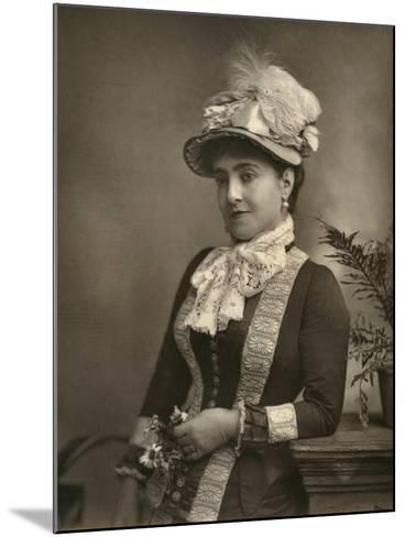 Adelina Patti, Italian Opera Diva, 1882--Mounted Photographic Print