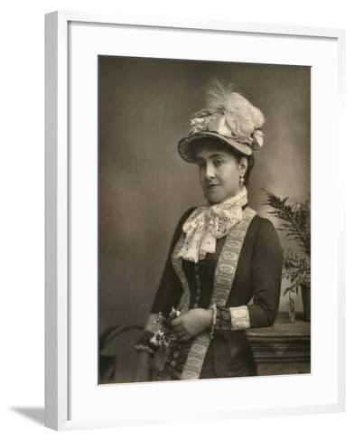 Adelina Patti, Italian Opera Diva, 1882--Framed Art Print