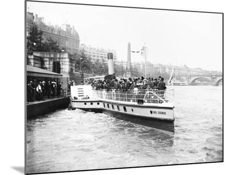Passengers Boarding the Steamer 'Earl Godwin, London, C1905--Mounted Photographic Print