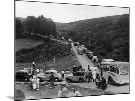 Crowded Road at Dartmeet, Devon, C1951--Mounted Photographic Print