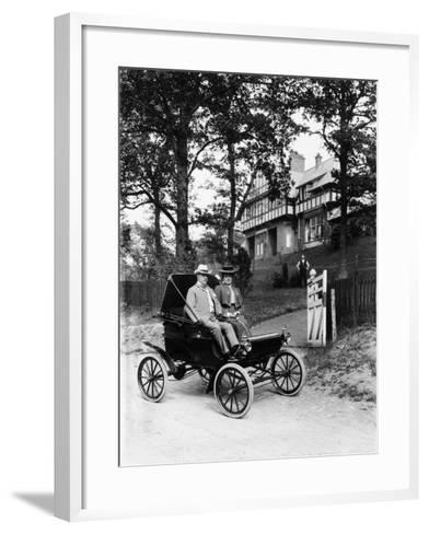 An Oldsmobile Curved Dash, 1902--Framed Art Print
