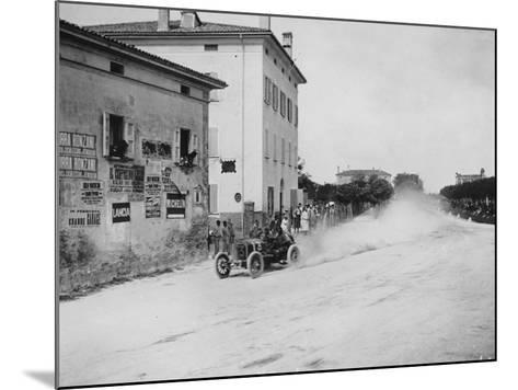 Vincenzo Trucco Driving a De Dietrich, in the Coupe Florio, Bologna, Italy, 1908--Mounted Photographic Print
