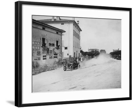 Vincenzo Trucco Driving a De Dietrich, in the Coupe Florio, Bologna, Italy, 1908--Framed Art Print