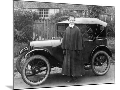 Woman with an Austin Seven, C1923--Mounted Photographic Print