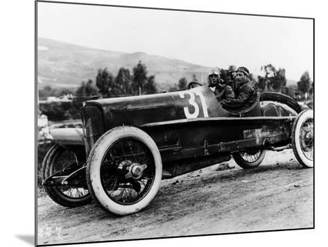 Wild Driving an Itala 51, in the Targa Florio Race, Sicily, 1922--Mounted Photographic Print