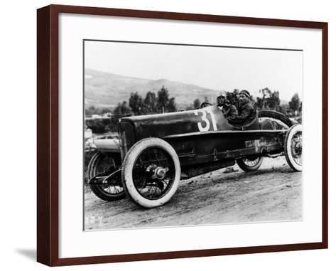 Wild Driving an Itala 51, in the Targa Florio Race, Sicily, 1922--Framed Art Print