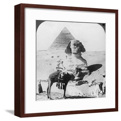 The Great Sphinx of Giza, Egypt, 1905-Underwood & Underwood-Framed Art Print