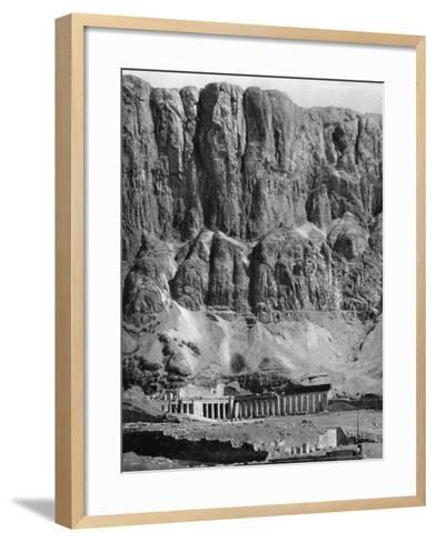 The Temple of Deir-El-Bahari, Egypt, 1936--Framed Art Print