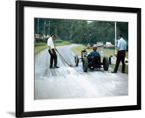 A Veteran Car at Prescott Race Track, Gloucestershire--Framed Art Print