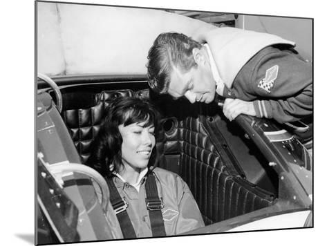Craig Breedlove Explaining the Controls of 'Spirit of America Sonic I' to His Wife, Lee, C1965--Mounted Photographic Print