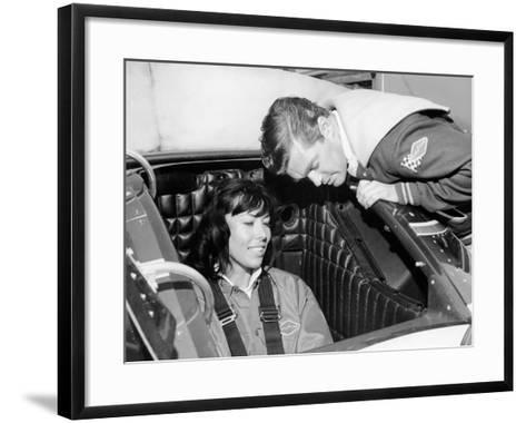 Craig Breedlove Explaining the Controls of 'Spirit of America Sonic I' to His Wife, Lee, C1965--Framed Art Print