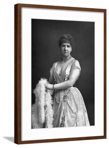 Anna Williams, Singer, 1890-W&d Downey-Framed Art Print