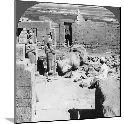 View from the Ramesseum Southeast over the Plain of Thebes, Egypt, 1905-Underwood & Underwood-Mounted Photographic Print