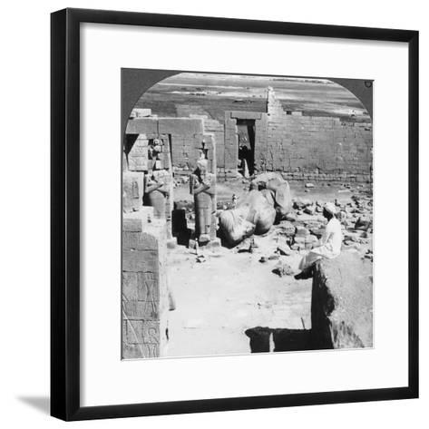 View from the Ramesseum Southeast over the Plain of Thebes, Egypt, 1905-Underwood & Underwood-Framed Art Print
