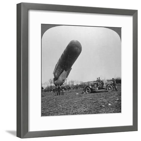 Observation Balloon About to Ascend, World War I, C1914-C1918--Framed Art Print