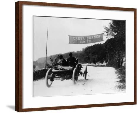 T Thornycroft in a Thornycroft Car in a Tt Race, 1908--Framed Art Print
