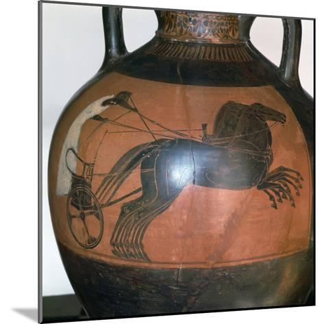 Greek Vase Depicting a Chariot, C5th-6th Century Bc--Mounted Photographic Print