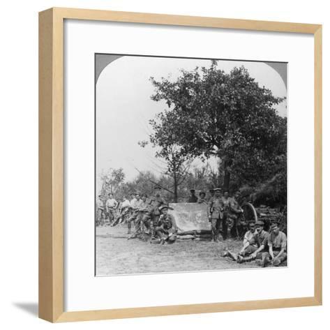 A Battery of Royal Field Artillery Enjoying a Few Hours Rest in a Wood, World War I, C1914-C1918--Framed Art Print
