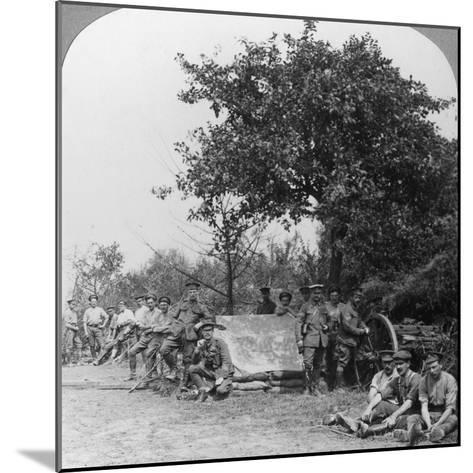 A Battery of Royal Field Artillery Enjoying a Few Hours Rest in a Wood, World War I, C1914-C1918--Mounted Photographic Print