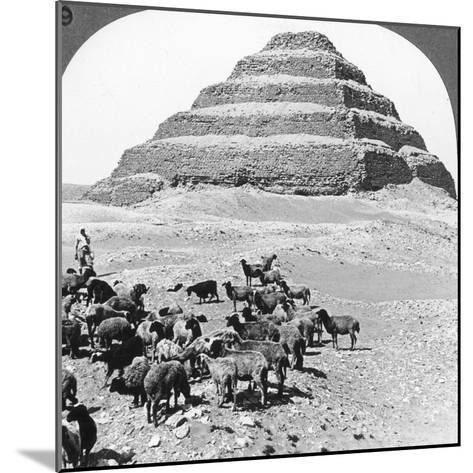 The Pyramid of Sakkarah, Egypt, 1905-Underwood & Underwood-Mounted Photographic Print