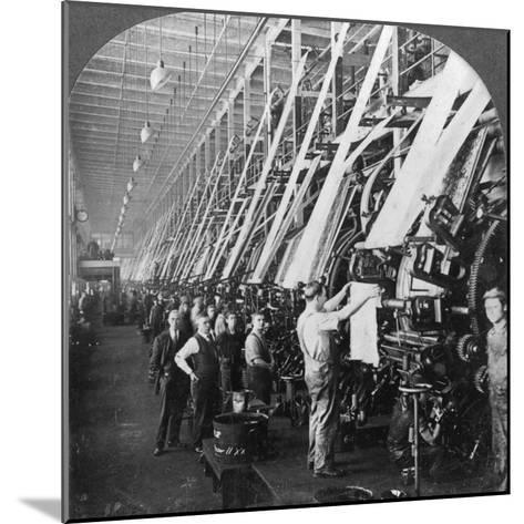 General View of a Large Printing Room in a Cotton Mill, Lawrence, Massachusetts, USA--Mounted Photographic Print