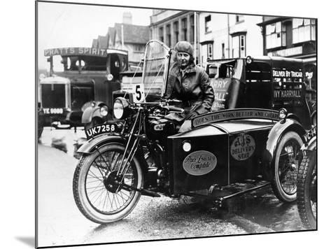 Woman Riding a 1929 500Cc Ajs Motorbike, (C1929)--Mounted Photographic Print
