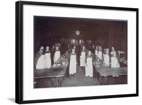The Lord Mayor's Dinner at Guildhall, London, C1900--Framed Art Print
