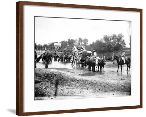 Black Refugees Travelling in a Bullock Cart, American Civil War, 1861-1865--Framed Art Print