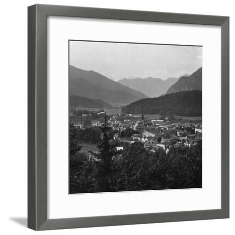 Bad Ischl, at the Foot of Hoher Dachstein, Salzkammergut, Austria, C1900s-Wurthle & Sons-Framed Art Print