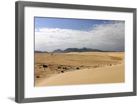 Sand Dunes, Corralejo, Fuerteventura, Canary Islands-Peter Thompson-Framed Art Print
