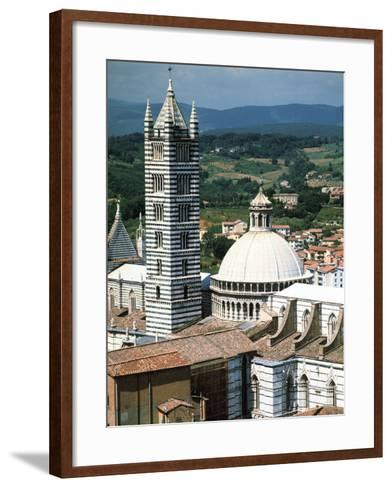 Panorama to Cathedral, Sienna, Tuscany, Italy-Peter Thompson-Framed Art Print