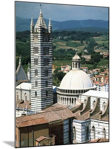 Panorama to Cathedral, Sienna, Tuscany, Italy-Peter Thompson-Mounted Photographic Print