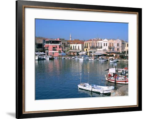 Old Harbour, Rethymnon, Crete, Greece-Peter Thompson-Framed Art Print