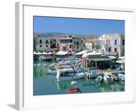 Old Harbour, Rethymnon, Crete, Greece-Peter Thompson-Framed Art Print