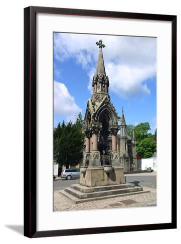 The Atholl Memorial Fountain, Dunkeld, Perthshire, Scotland-Peter Thompson-Framed Art Print