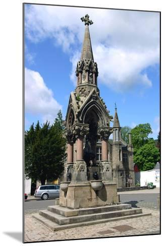 The Atholl Memorial Fountain, Dunkeld, Perthshire, Scotland-Peter Thompson-Mounted Photographic Print