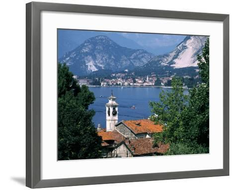 Lake Maggiore, Isola Bella Baveno in Background, Italy-Peter Thompson-Framed Art Print