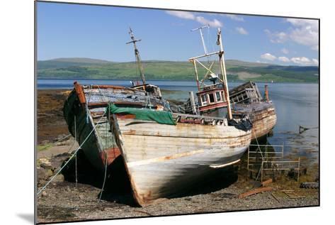 Old Fishing Boats, Near Salen, Mull, Argyll and Bute, Scotland-Peter Thompson-Mounted Photographic Print