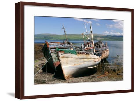 Old Fishing Boats, Near Salen, Mull, Argyll and Bute, Scotland-Peter Thompson-Framed Art Print