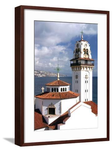 Church and Bay, Candelaria, Tenerife, 2007-Peter Thompson-Framed Art Print