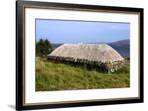 Black House, Colbost Folk Museum, Skye, Highland, Scotland-Peter Thompson-Framed Art Print
