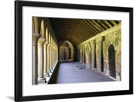 Cloisters of Iona Abbey, Argyll and Bute, Scotland-Peter Thompson-Framed Art Print