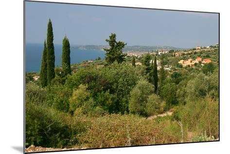 Distant View of Lourdas, Kefalonia, Greece-Peter Thompson-Mounted Photographic Print