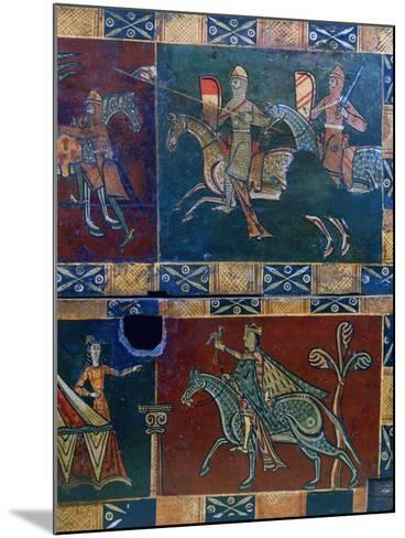 Knights on Horseback and King with a Falcon, 12th Century--Mounted Photographic Print