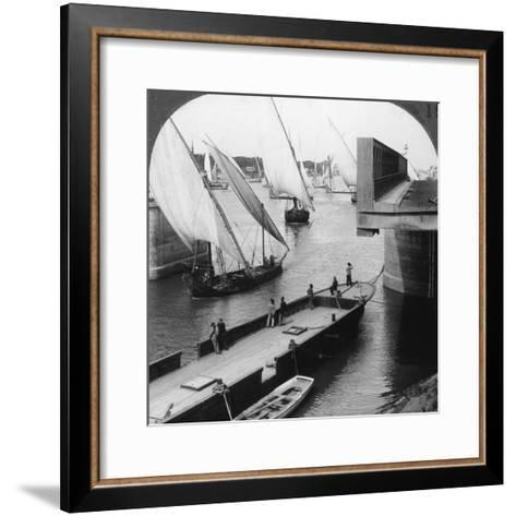 The Great Nile Bridge, Cairo, Egypt, 1905-Underwood & Underwood-Framed Art Print