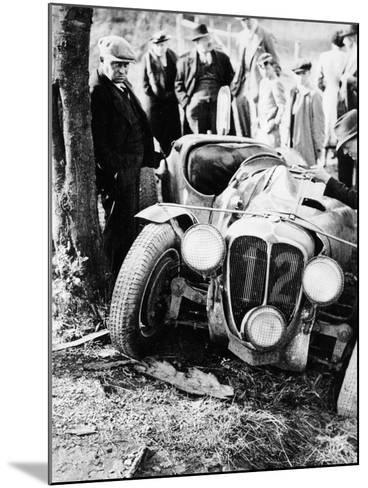 Crash of the Le Mans 24 Hours Winner at Spa, Belgium, 1938--Mounted Photographic Print