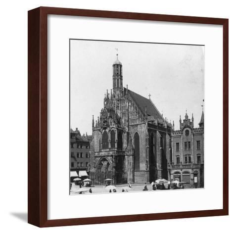 The Frauenkirche, Nuremberg, Bavaria, Germany, C1900-Wurthle & Sons-Framed Art Print