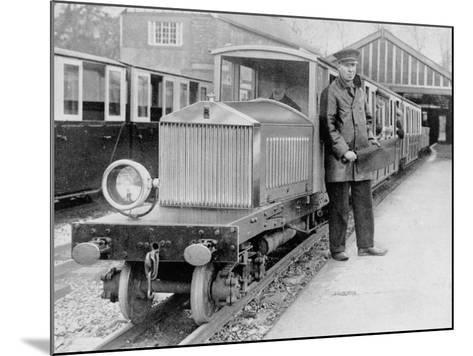 Rolls-Royce Silver Ghost Locomotive on the Romney, Hythe and Dymchurch Railway, 1933--Mounted Photographic Print