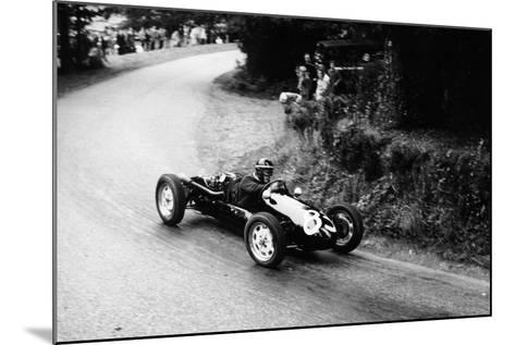 A Racing Driver Speeding Round a Bend, Harleyford Hill Climb, Buckinghamshire, (C1950-C1960)--Mounted Photographic Print